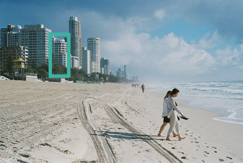 Gold coast airbnb property highlighted